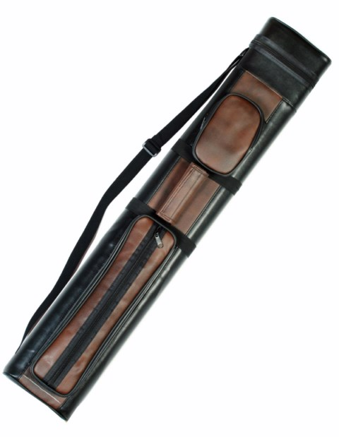 Case of 10 - Brown / Black 2X2 Hard Pool Cue Stick Carrying Case 2 x 2